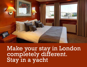 Stay on the Sunborn Yacht Hotel while in London
